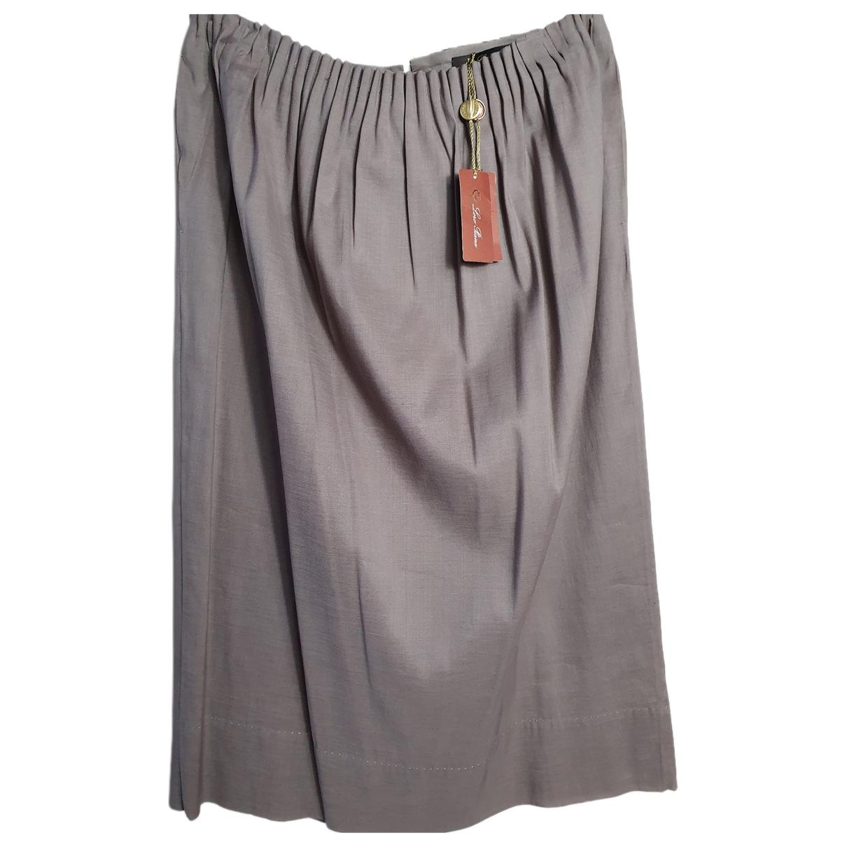 Loro Piana - Jupe   pour femme en soie - beige