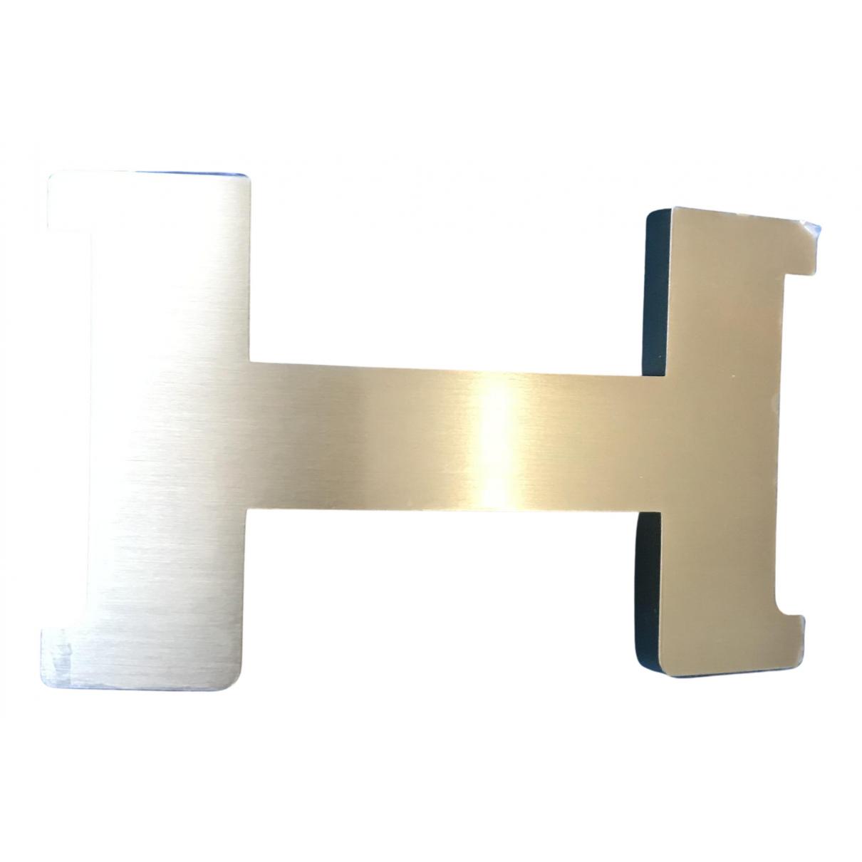 Hermes - Ceinture Boucle seule / Belt buckle pour femme en metal - dore