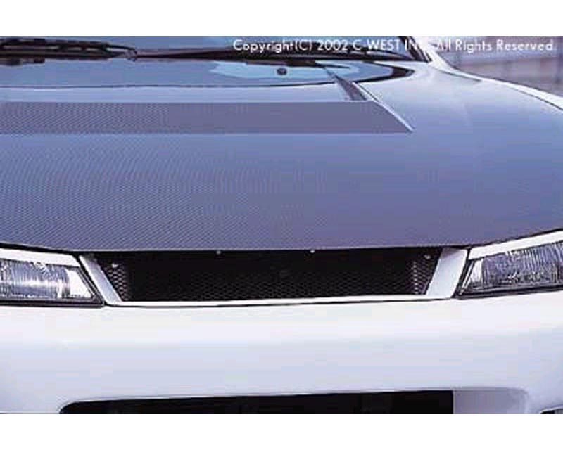 C-West CS1401B-FGFR Front Grill II Nissan 240SX S14 97-98