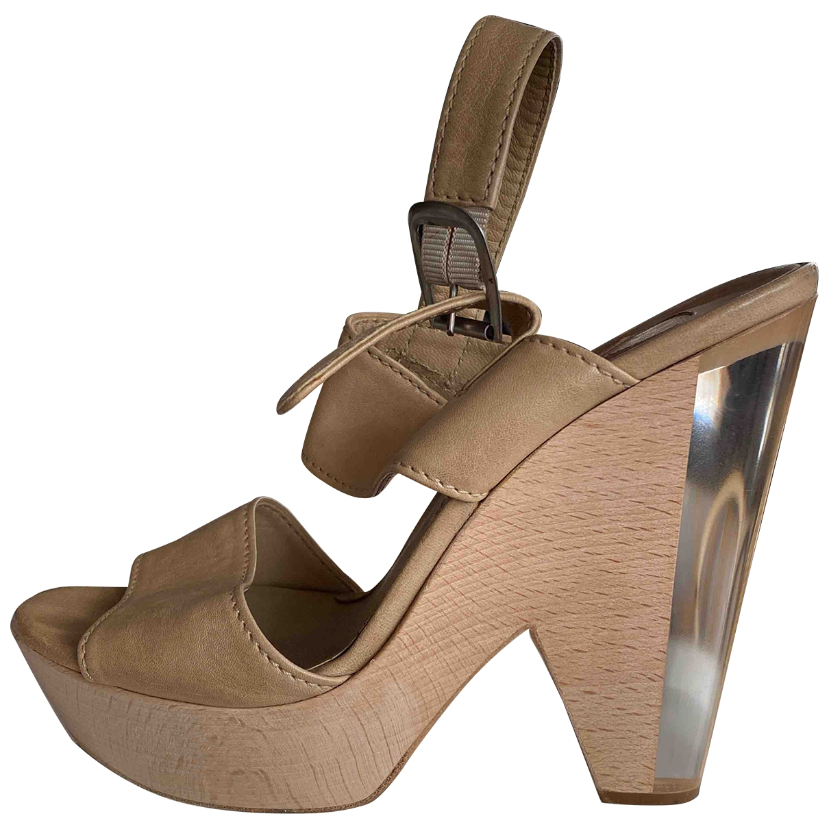 Chloé \N Beige Leather Heels for Women 39 EU