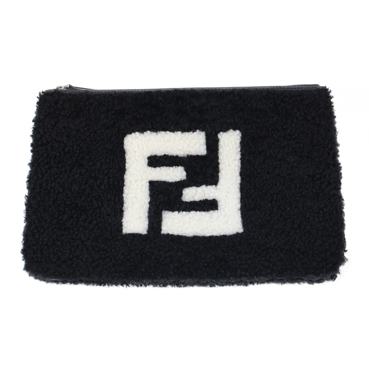 Fendi \N Black Shearling Clutch bag for Women \N
