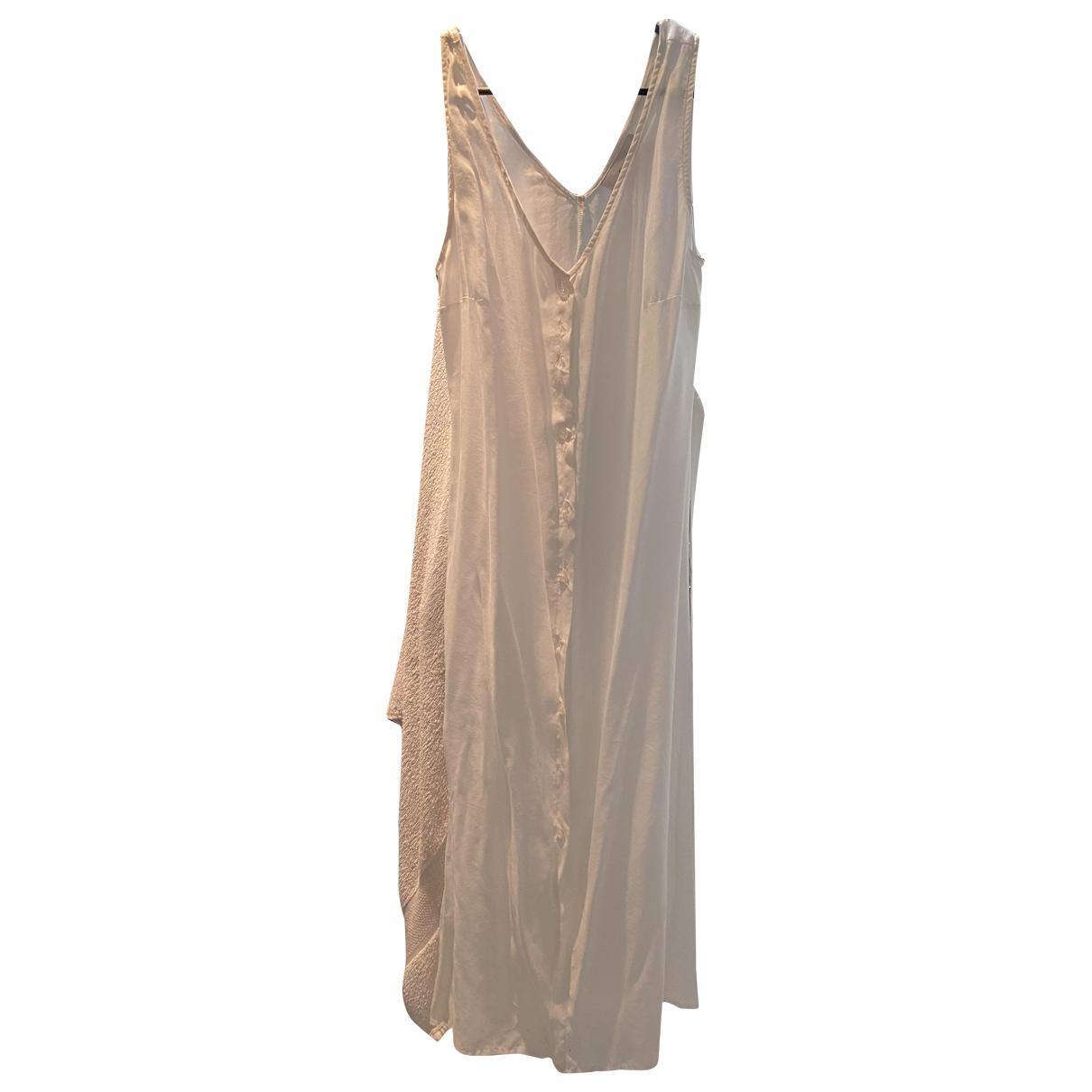 Non Signé / Unsigned \N White Silk dress for Women M International