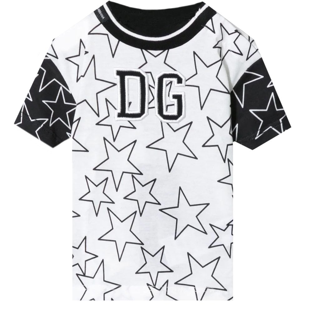 Dolce & Gabbana Dg Star T-shirt Size: 24/30, Colour: WHITE