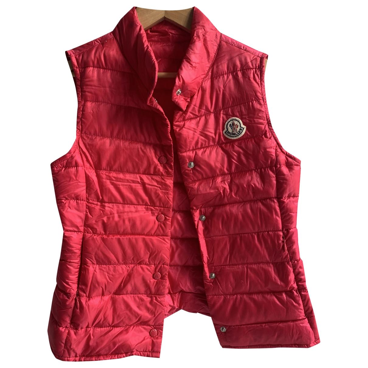 Moncler - Blousons.Manteaux Sleeveless pour enfant - rose