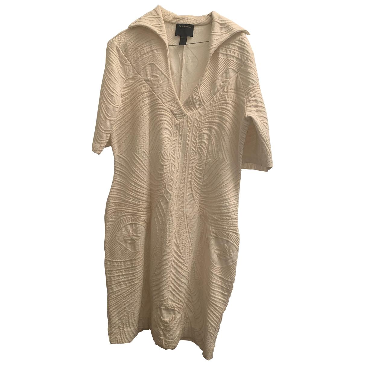 Class Cavalli - Robe   pour femme en coton - elasthane - blanc