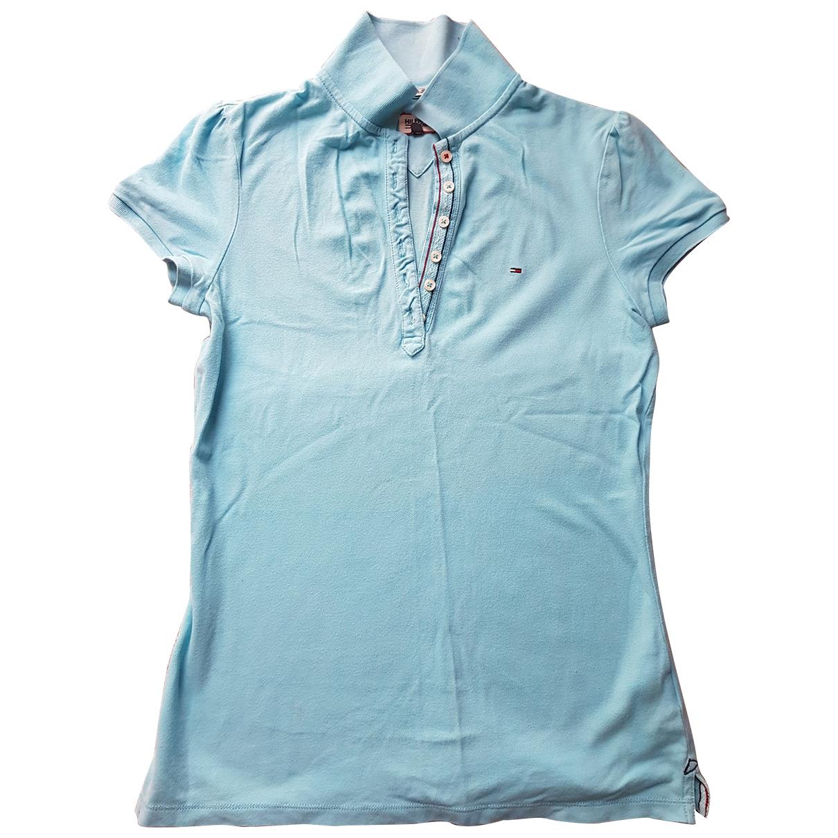 Hilfiger Collection - Top   pour femme en coton - turquoise