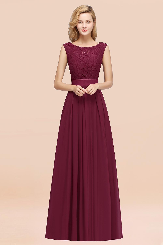 BMbridal Vintage Sleeveless Lace Bridesmaid Dresses Affordable Chiffon Wedding Party Dress Online