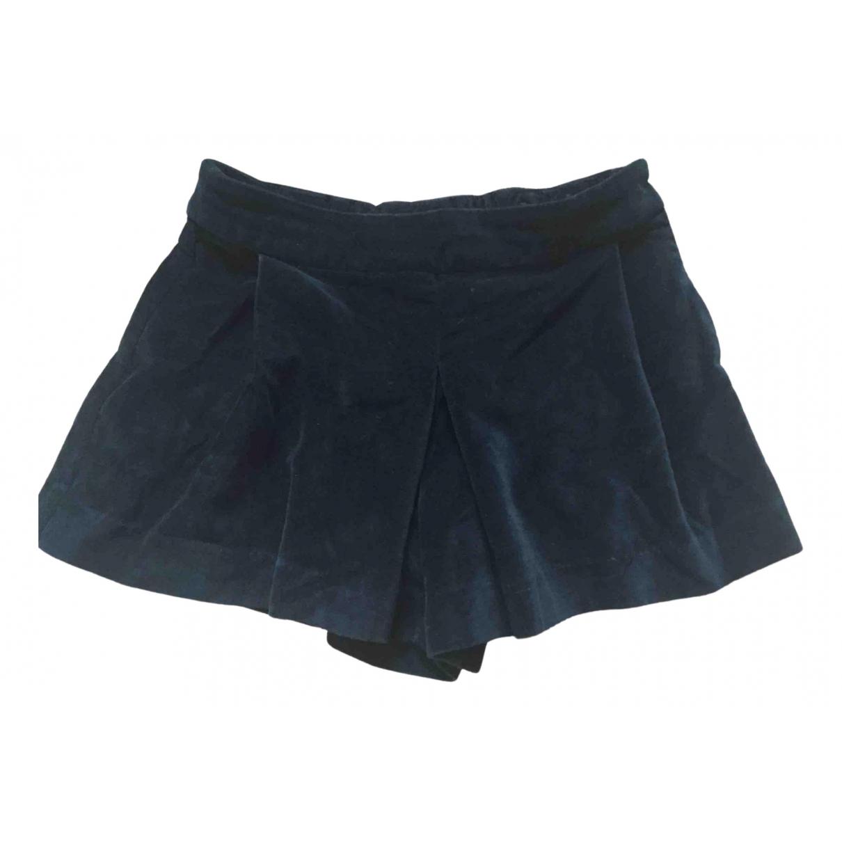 Jacadi \N Shorts in  Gruen Samt