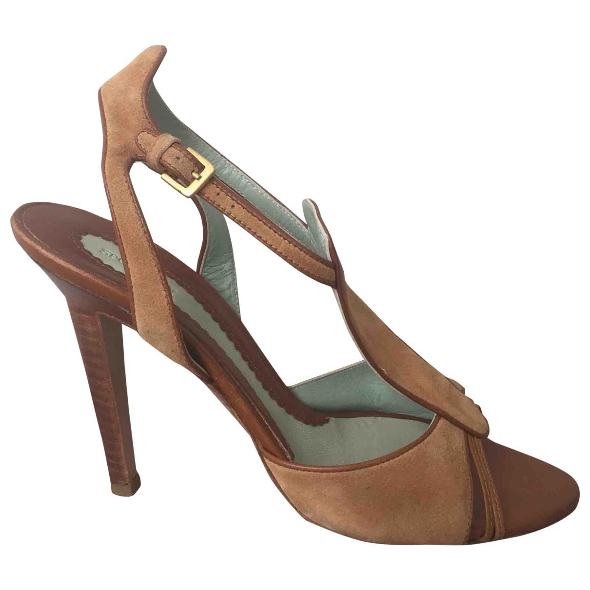 Sport Max \N Camel Suede Sandals for Women 38 EU