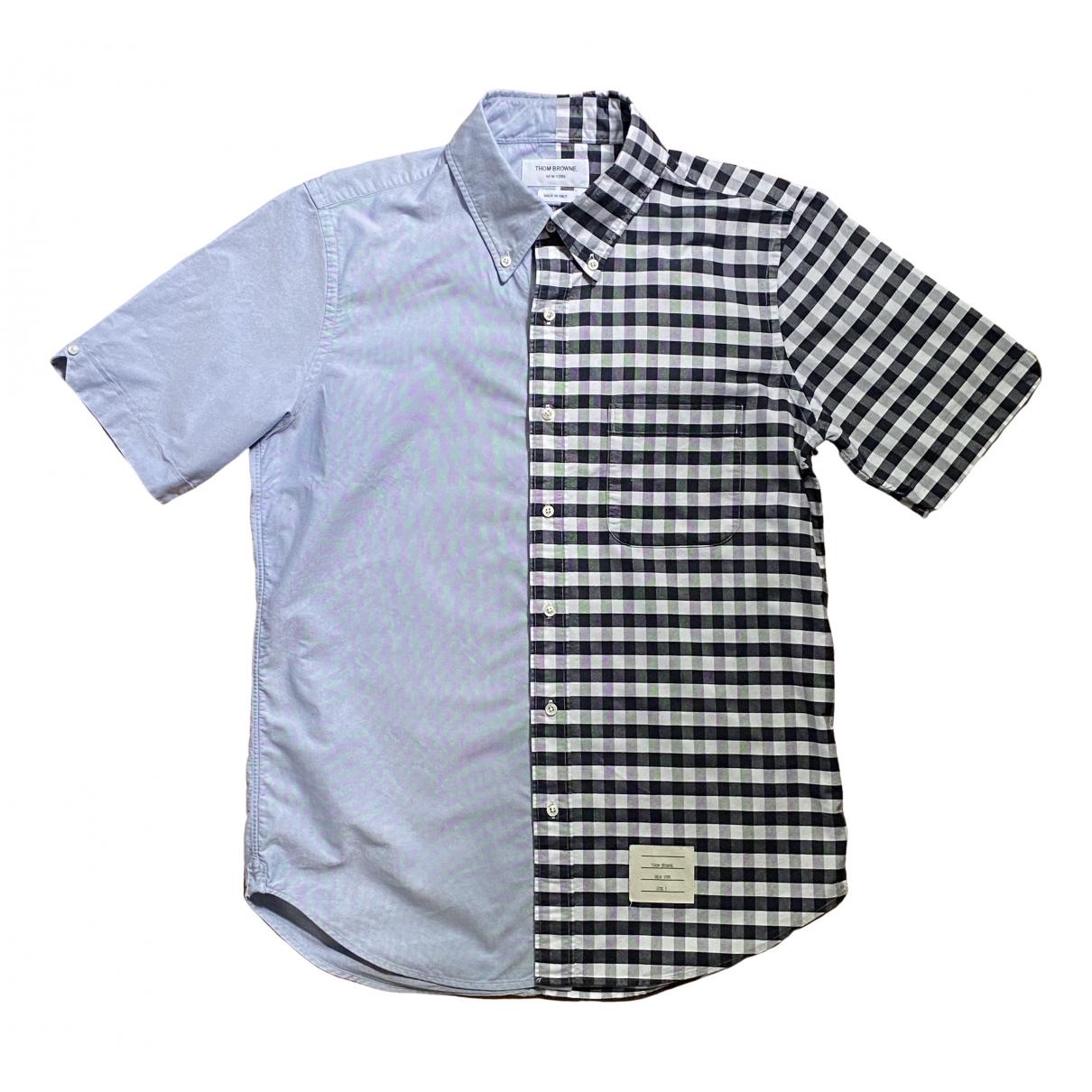 Thom Browne \N Blue Cotton Shirts for Men M International