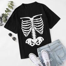 Skull Print Tee