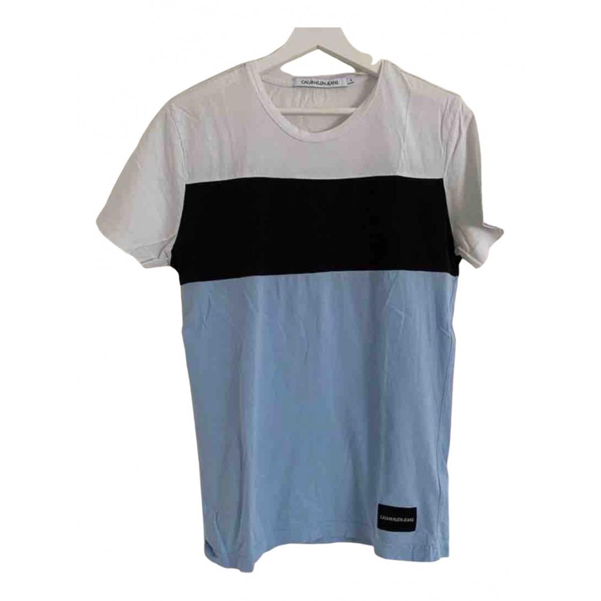 Calvin Klein - Tee shirts   pour homme en coton - bleu