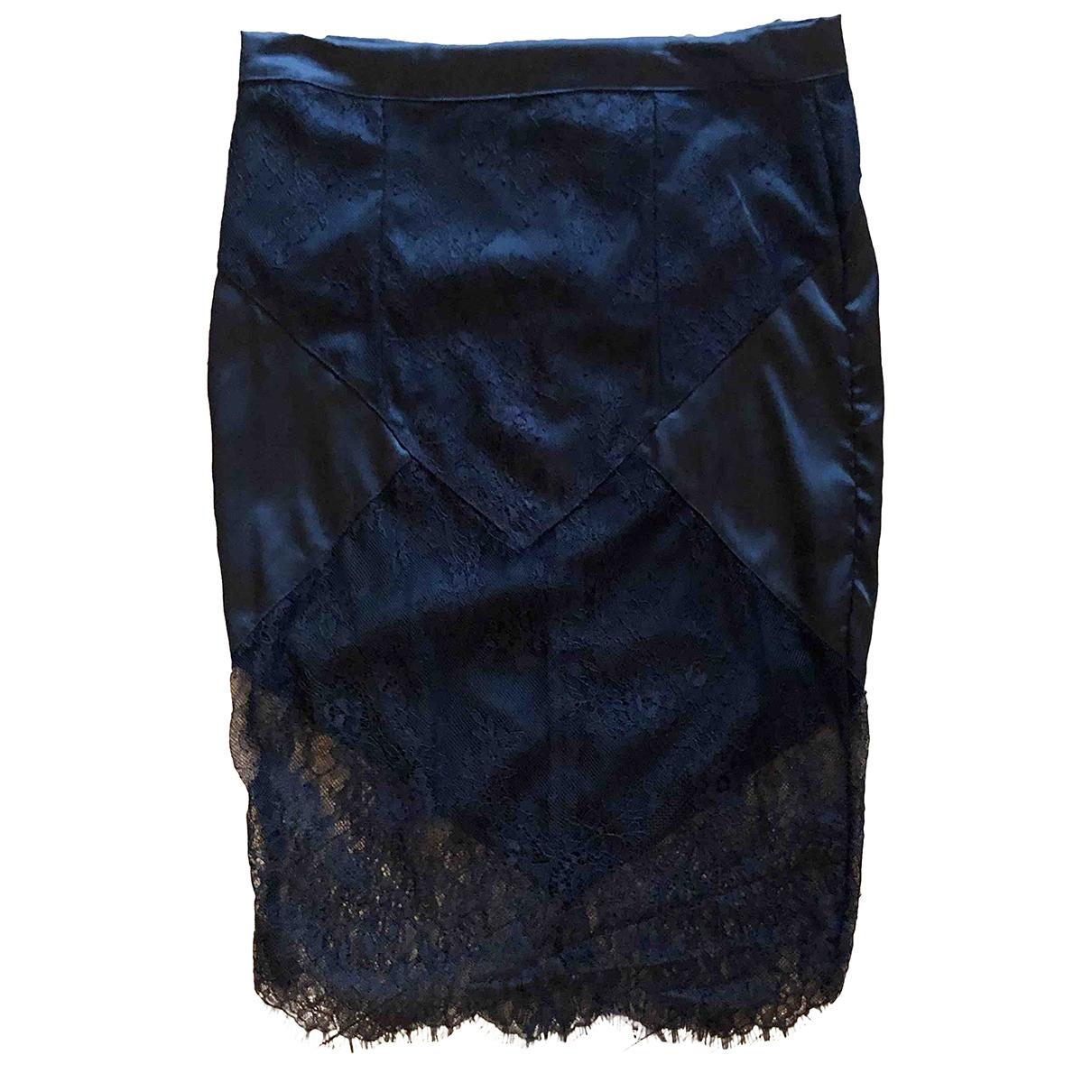 - Jupe   pour femme en soie - noir