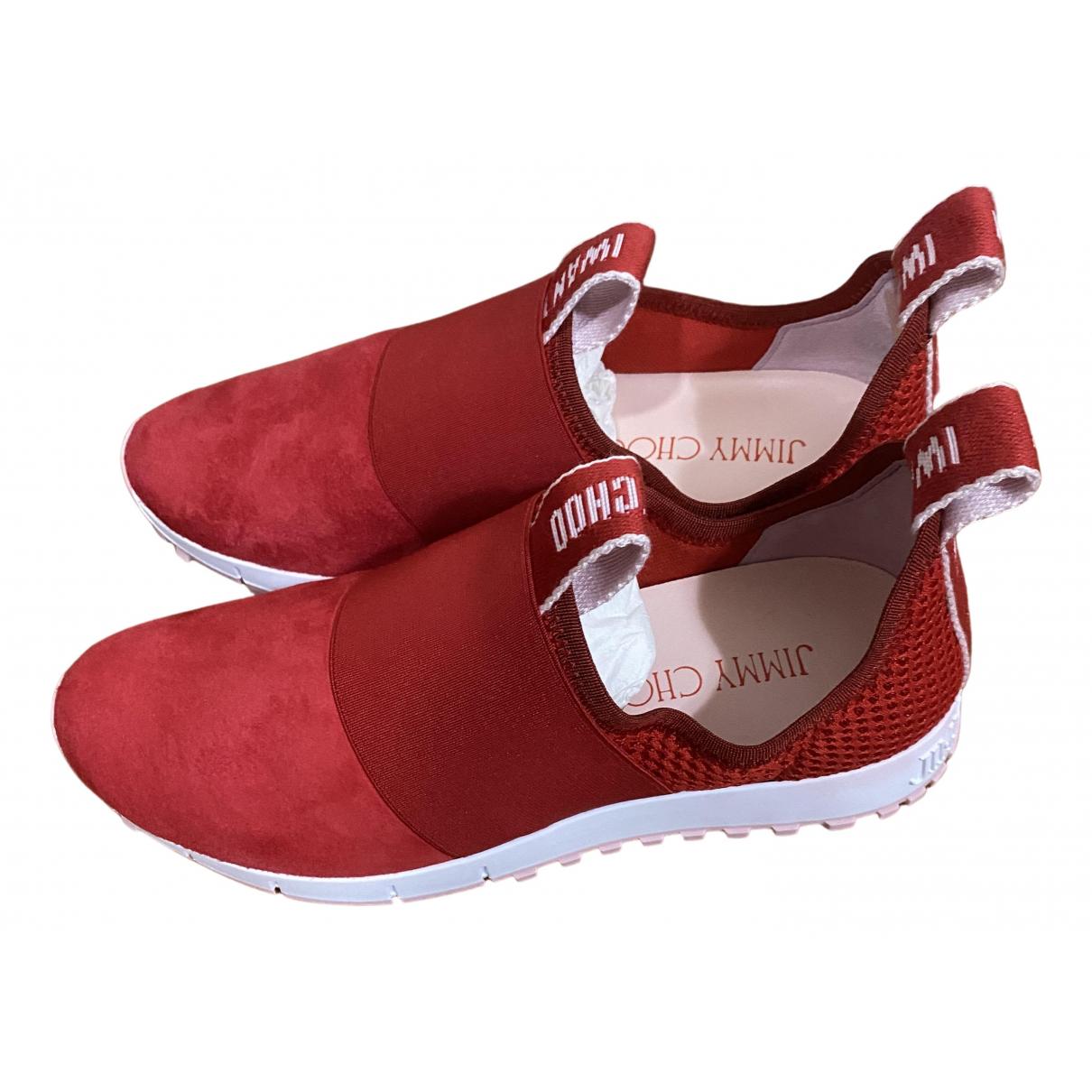 Jimmy Choo \N Sneakers in  Rot Veloursleder