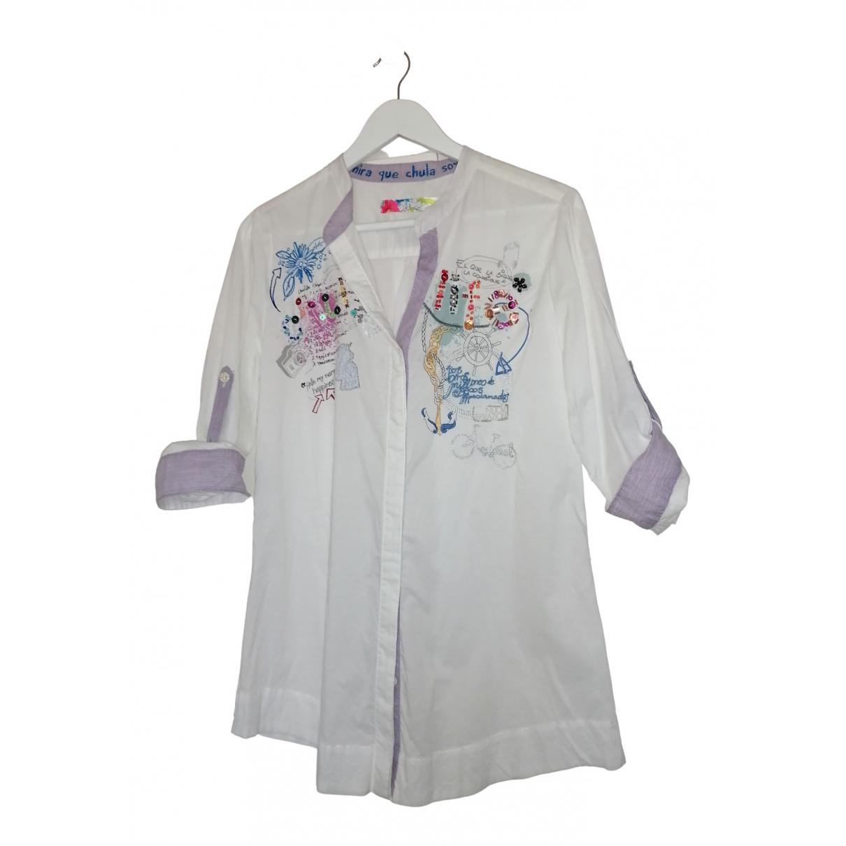 Desigual - Top   pour femme en coton - blanc