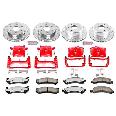 Power Stop Z36 Extreme Performance Truck & Tow 1-Click Front and Rear Brake Kit with Calipers - KC2016-36