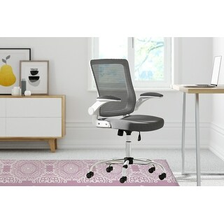 MINGLEOPARD Office Mat By Kavka Designs (Pink, White)