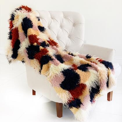 Fanciful Boho Collection PBSF1515-6072-TC 60W x 72L Plush Handmade Luxury Faux Fur