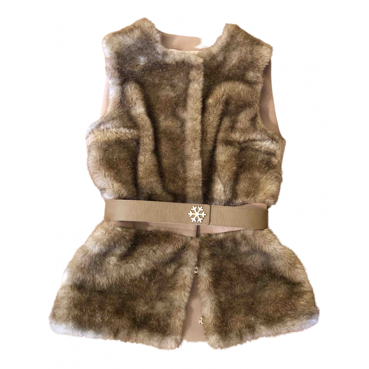Elisabetta Franchi \N Beige Faux fur coat for Women 40 IT