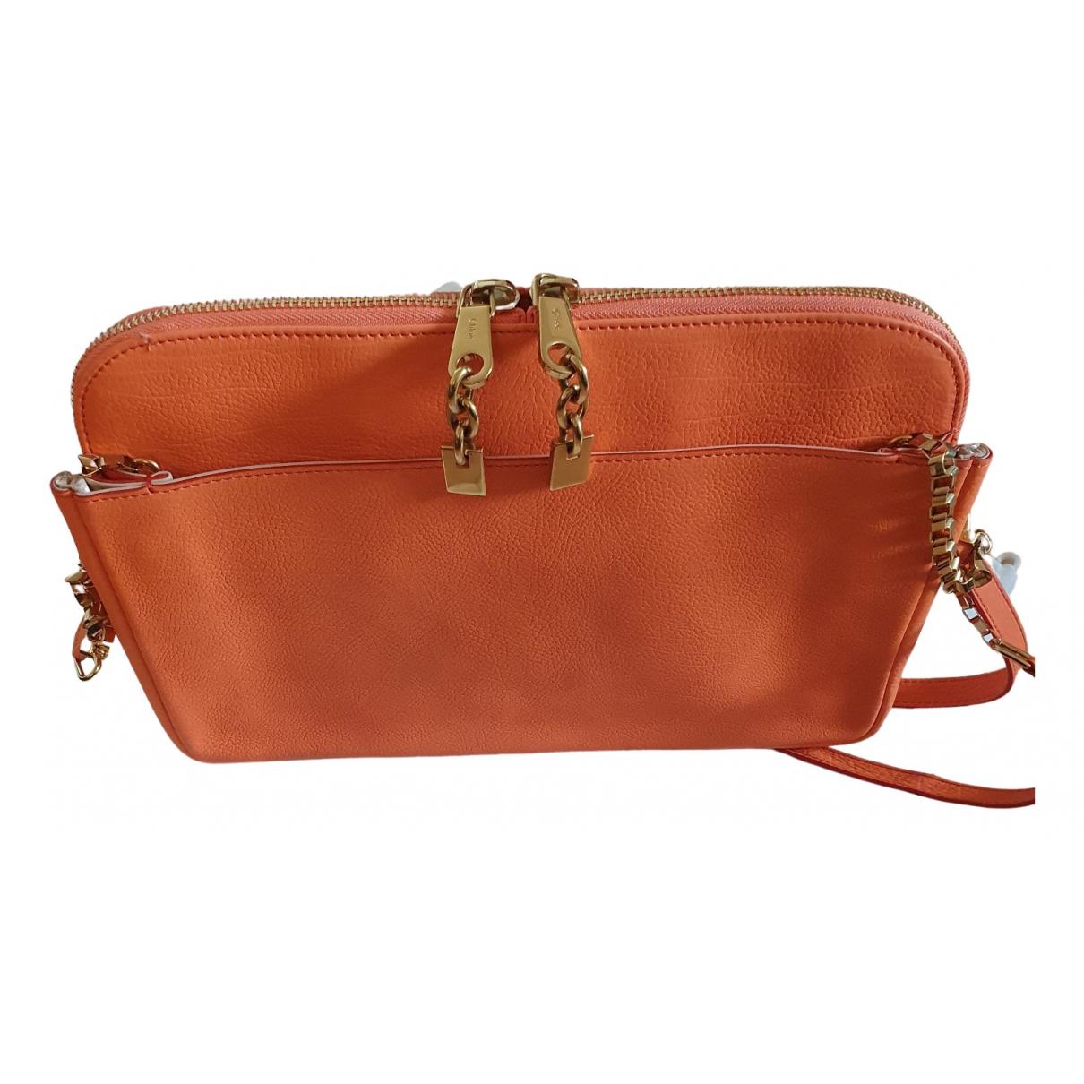 Chloé Lucy Orange Leather handbag for Women N