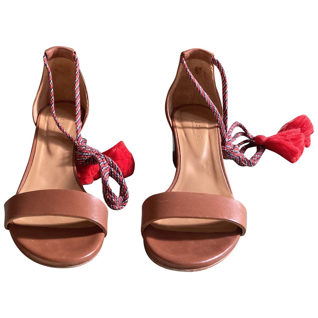 Sandalias de Cuero Sezane