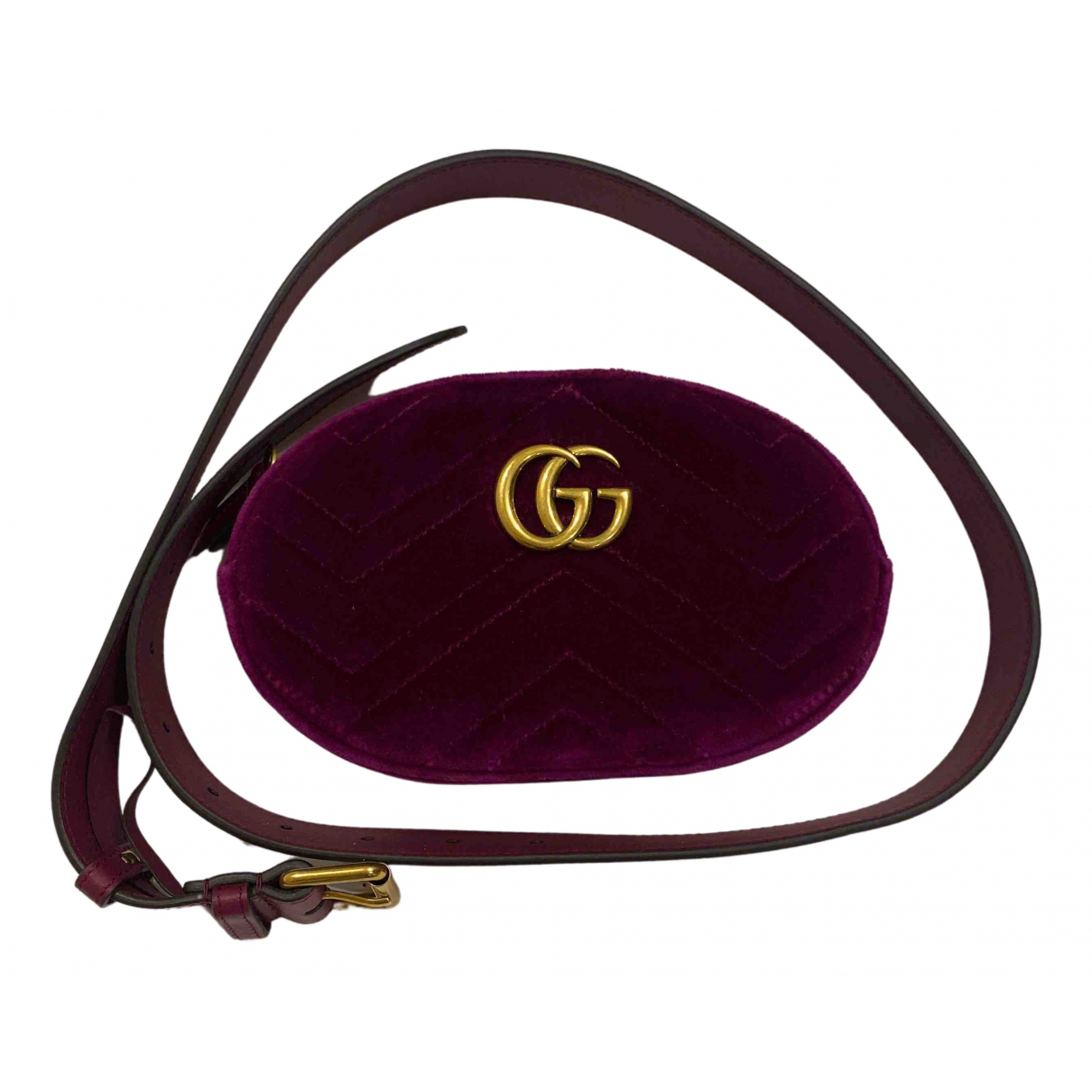 Gucci Marmont Clutch in  Rosa Samt
