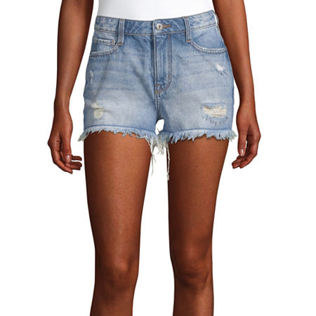 Arizona Womens High Rise Short-Juniors, 3 , Blue