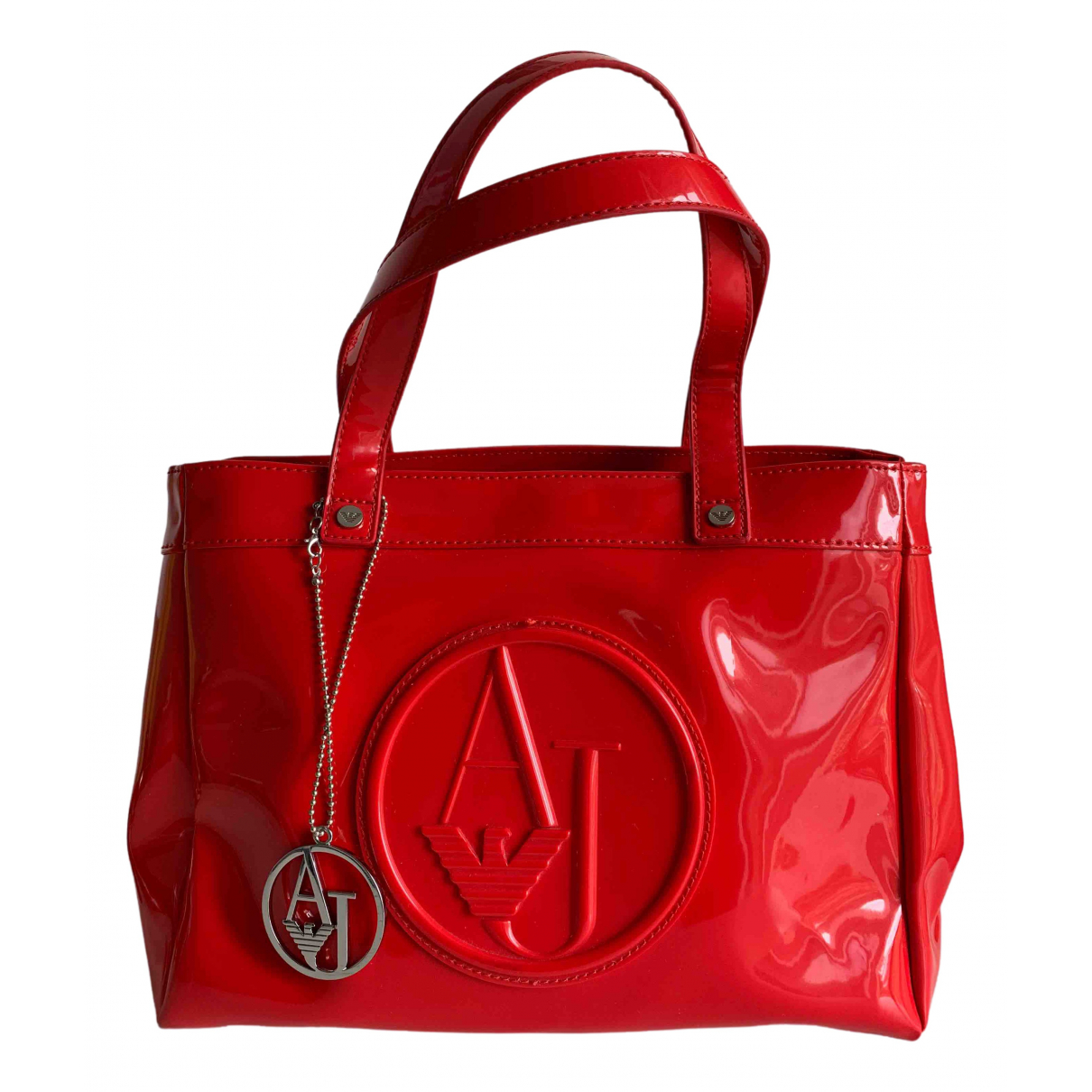 Armani Jeans \N Red Patent leather handbag for Women \N