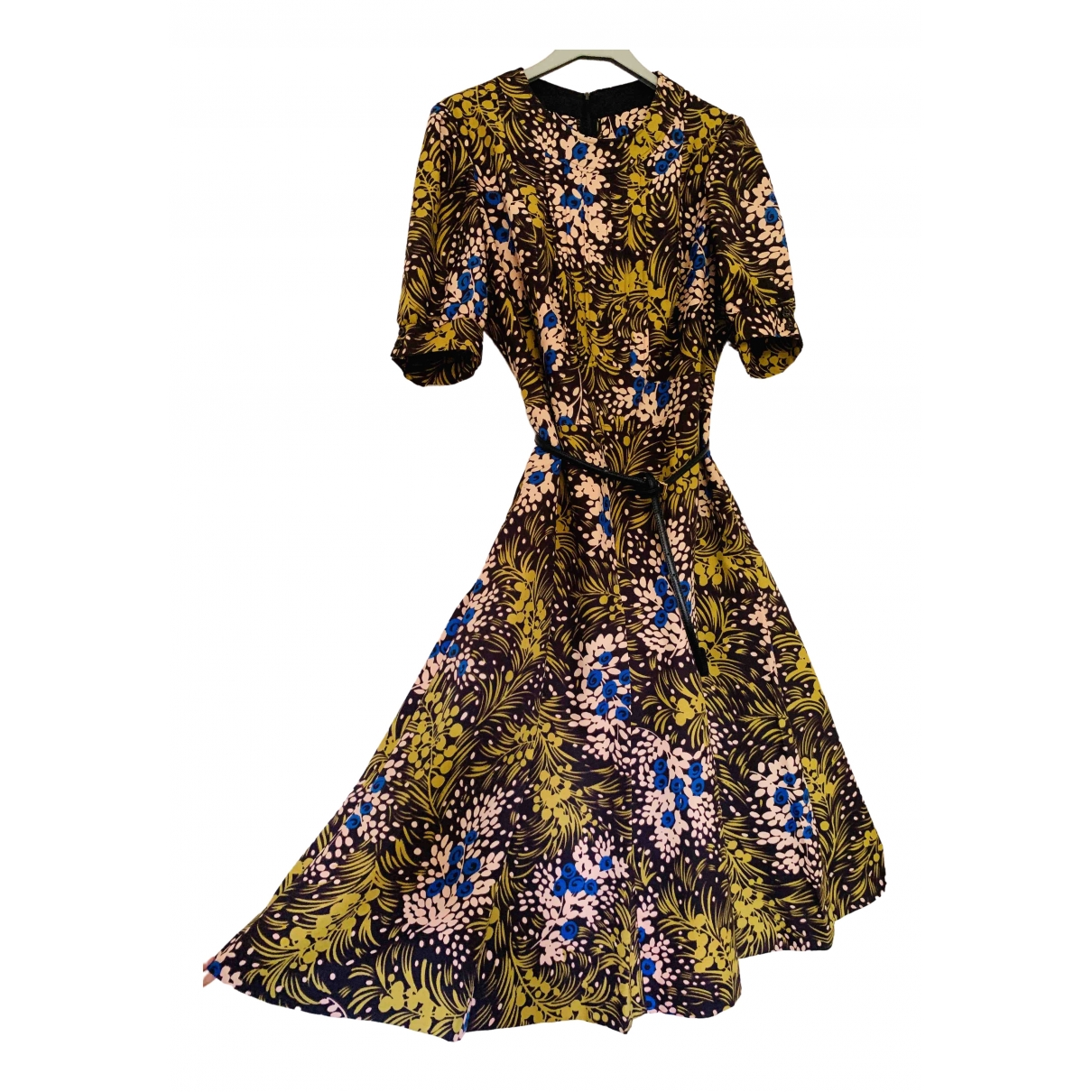 Non Signe / Unsigned Manche ballon Kleid in  Bunt Polyester