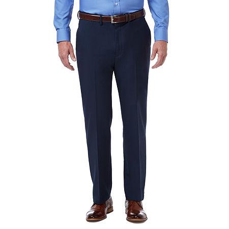 Haggar Premium Comfort Dress Pant Classic Fit Flat Front, 32 30, Blue
