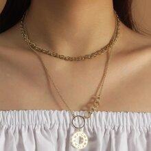 2 Stuecke minimalistische Halskette