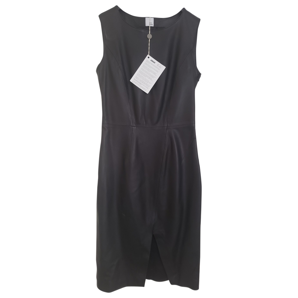 Iris & Ink \N Kleid in  Schwarz Leder