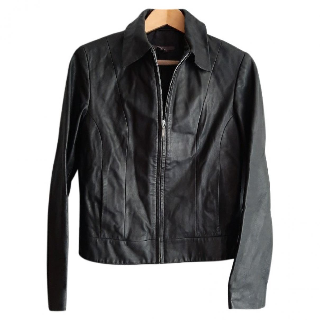 Zara \N Black Shearling Leather jacket for Women M International