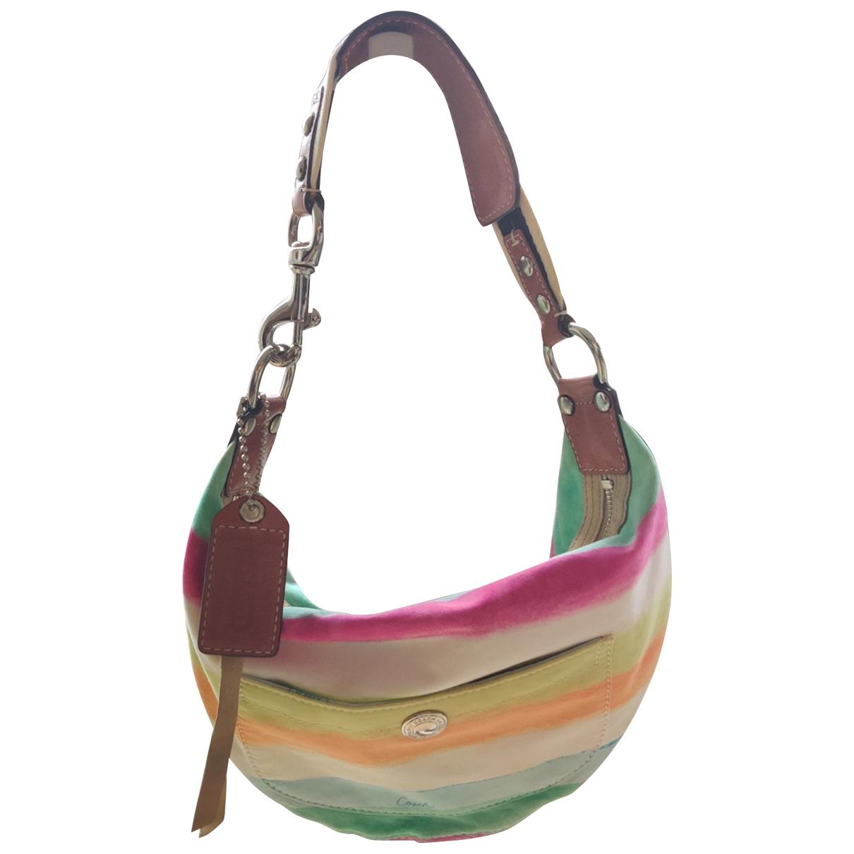 Coach Signature Sufflette Multicolour Cloth handbag for Women \N