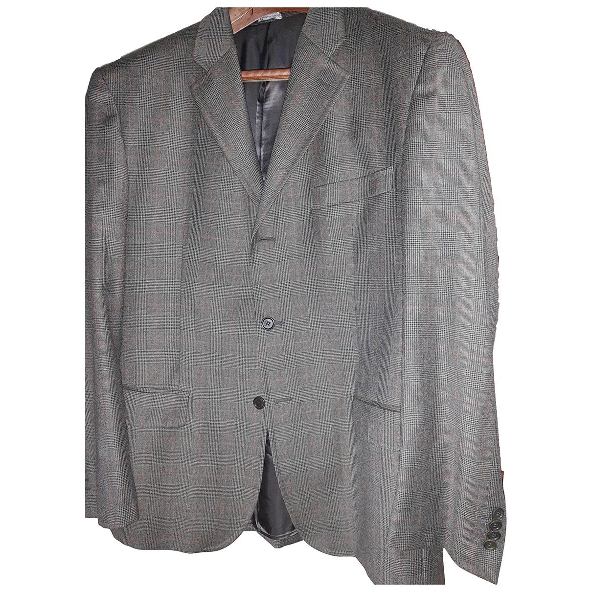 - Costumes   pour homme en laine - marron