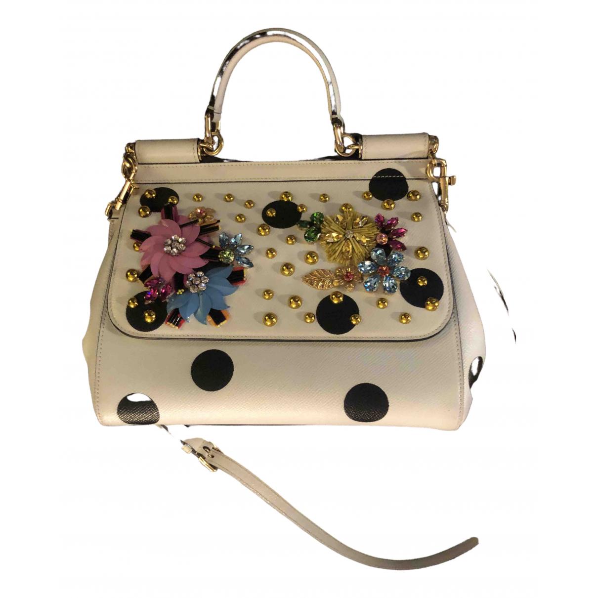 Dolce & Gabbana Sicily White Leather handbag for Women \N