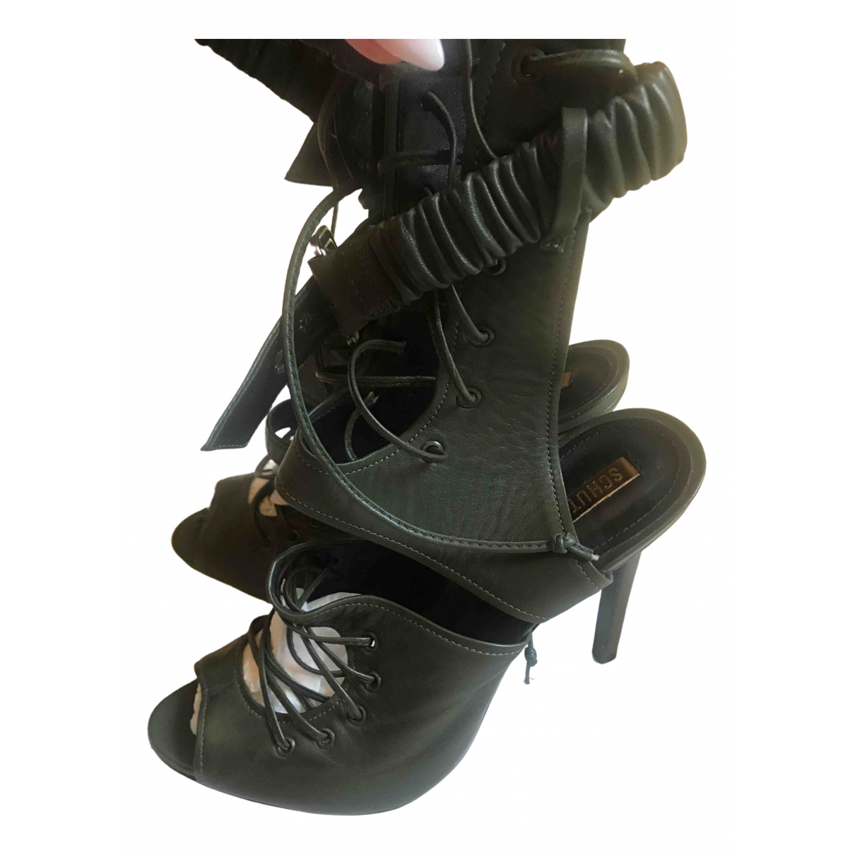 Schutz - Sandales   pour femme en cuir - vert