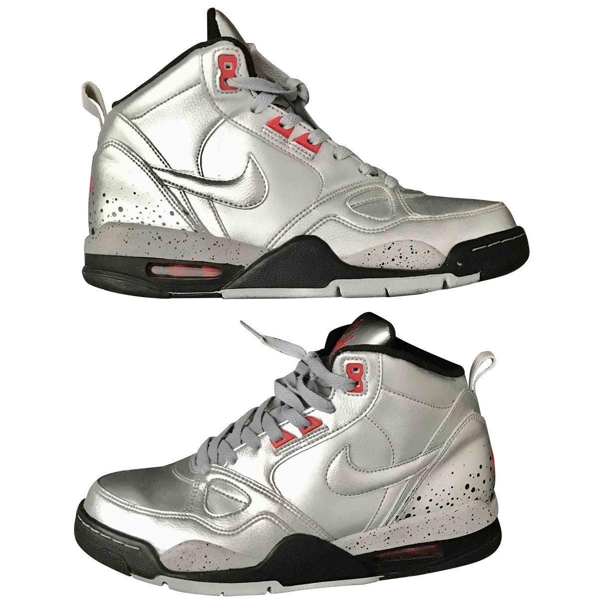 Jordan - Baskets   pour femme en cuir - argente