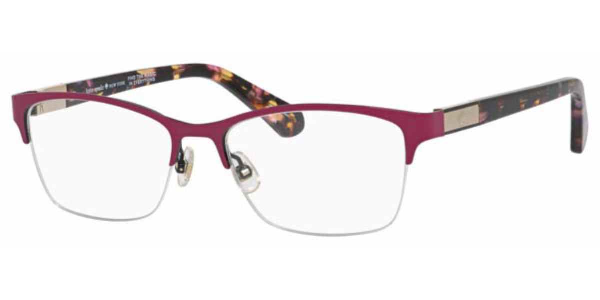 Kate Spade Glorianne HT8 Women's Glasses Burgundy Size 51 - Free Lenses - HSA/FSA Insurance - Blue Light Block Available
