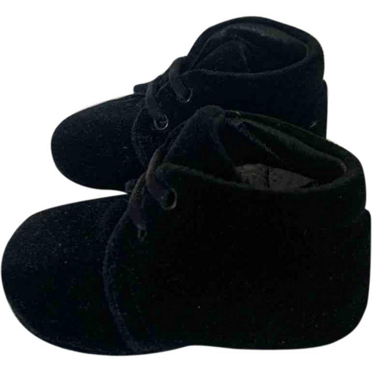 Dolce & Gabbana - Chaussons   pour enfant en velours - noir
