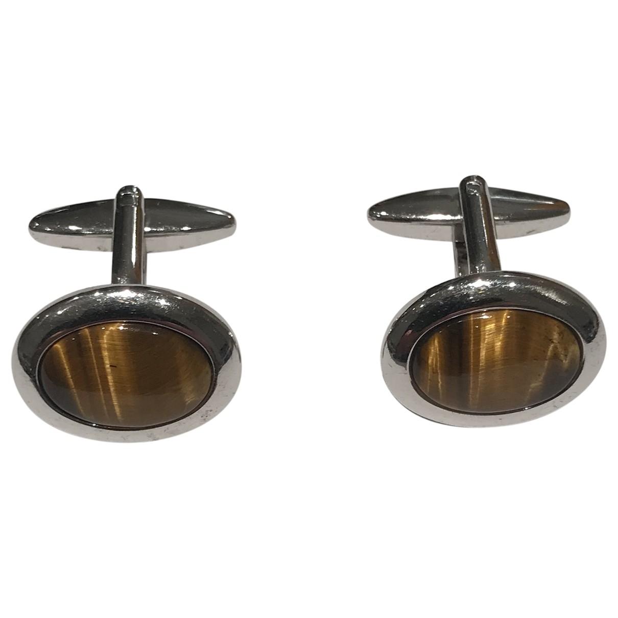 Non Signe / Unsigned \N Manschettenknopfe in Metall