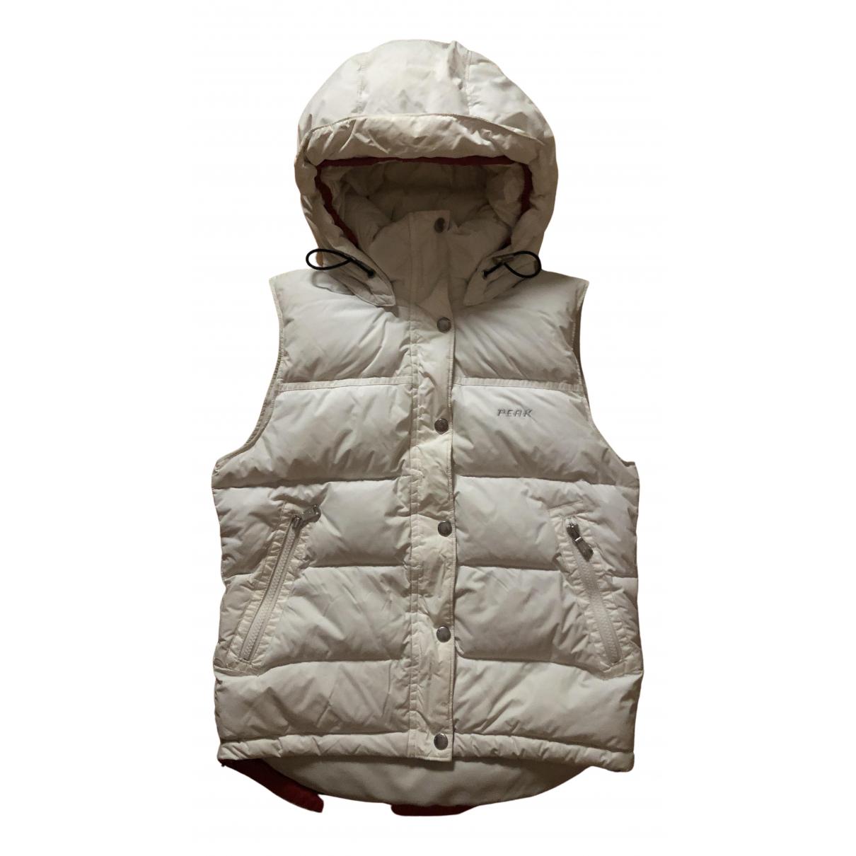 Peak Performance - Manteau   pour femme en cuir - blanc