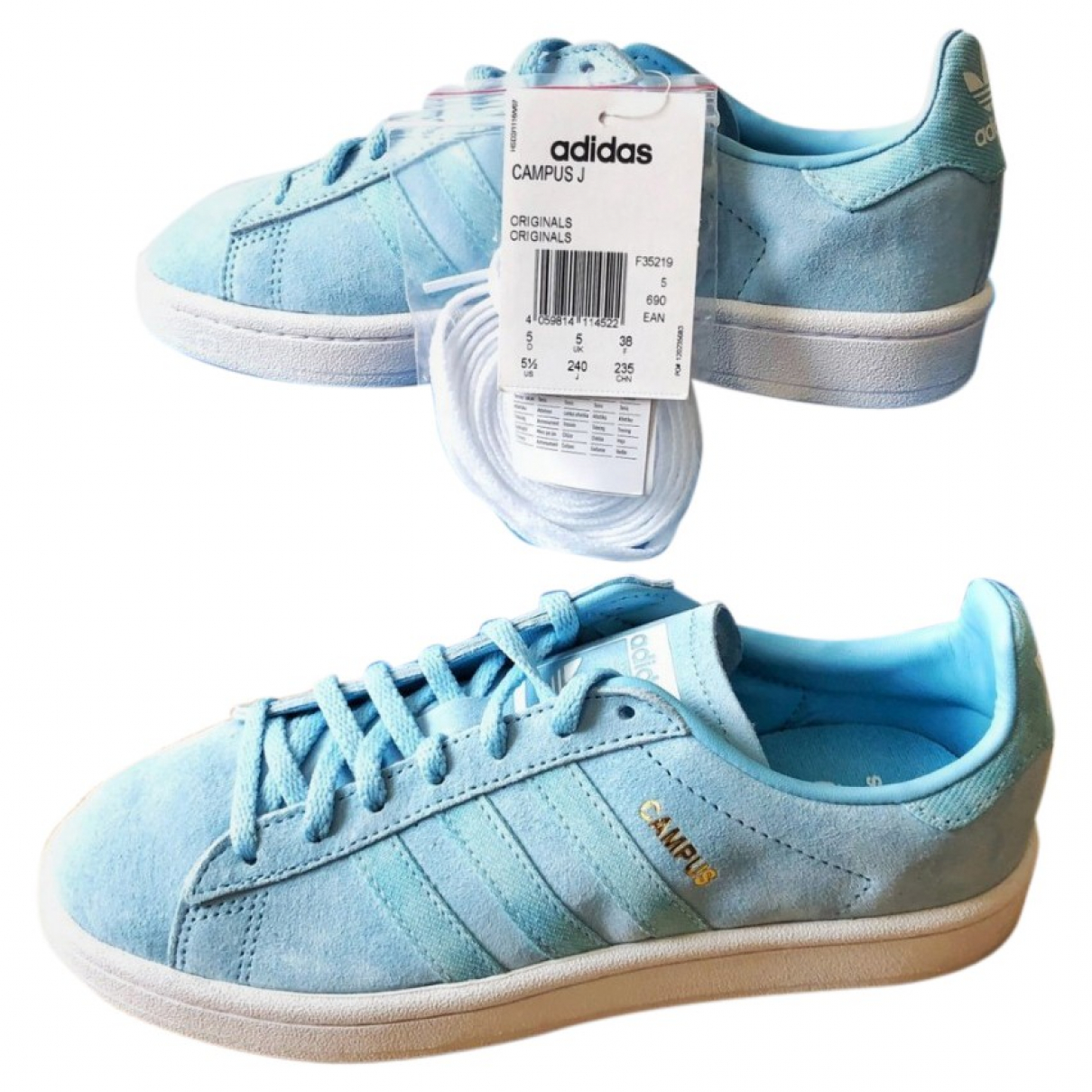 Adidas \N Sneakers in  Blau Veloursleder