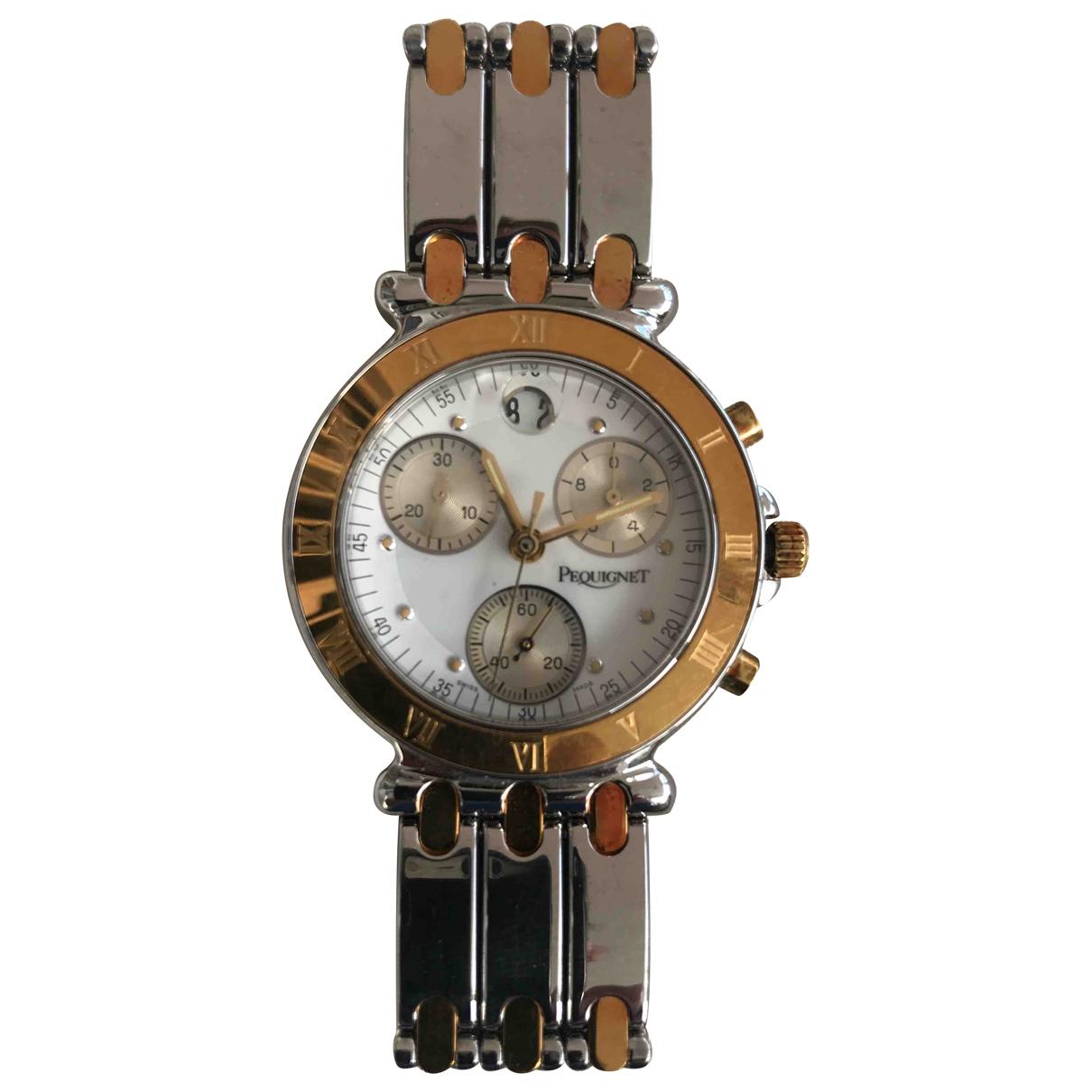 Pequignet \N Uhr in  Weiss Gold und Stahl