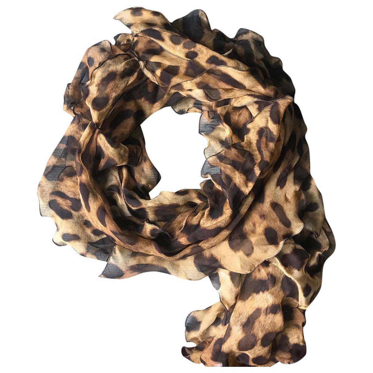 D&g - Foulard   pour femme en soie - beige