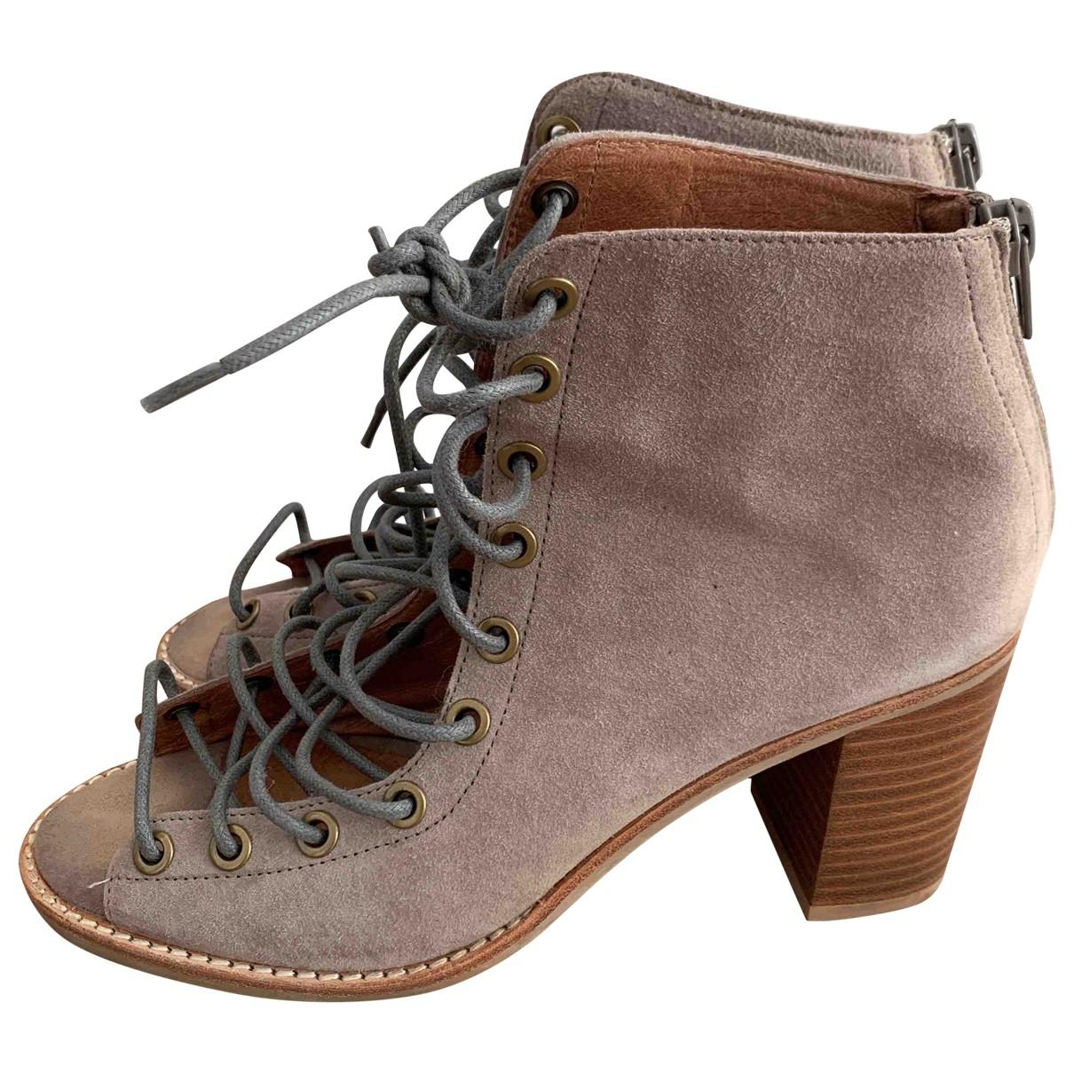 Jeffrey Campbell - Boots   pour femme en suede - kaki