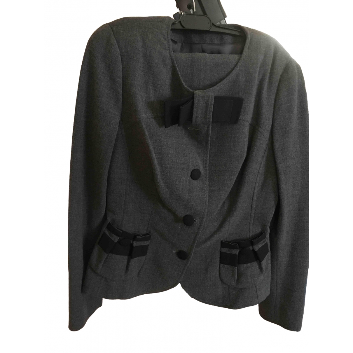 Non Signé / Unsigned \N Grey Wool jacket for Women 42 IT