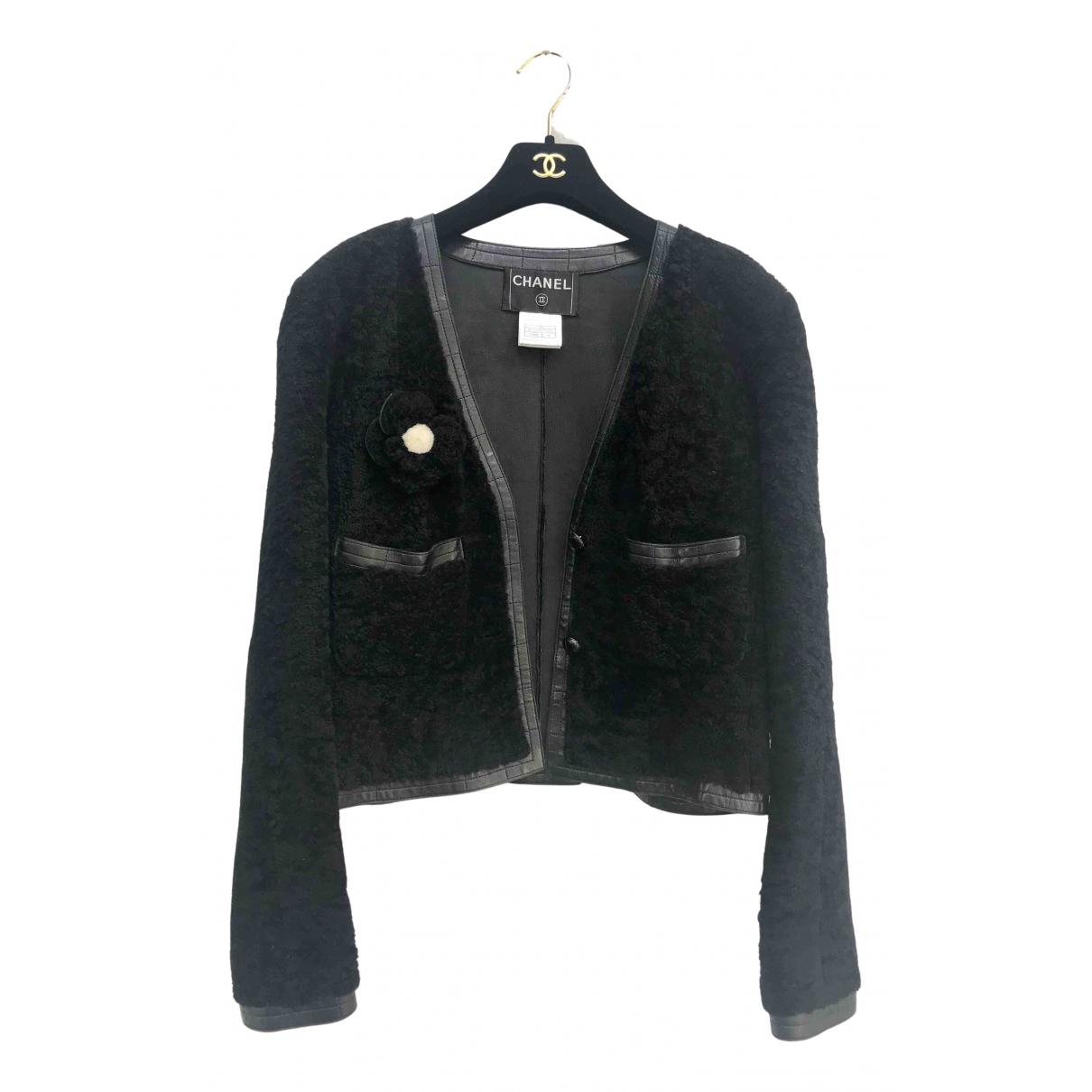 Chanel - Veste   pour femme en mouton - noir