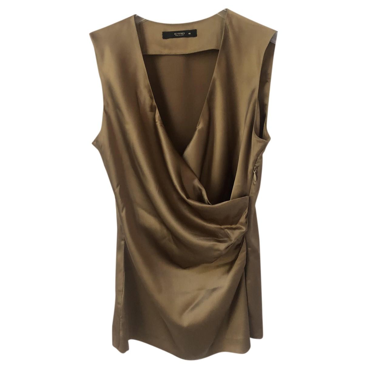 Etro - Top   pour femme en soie - beige