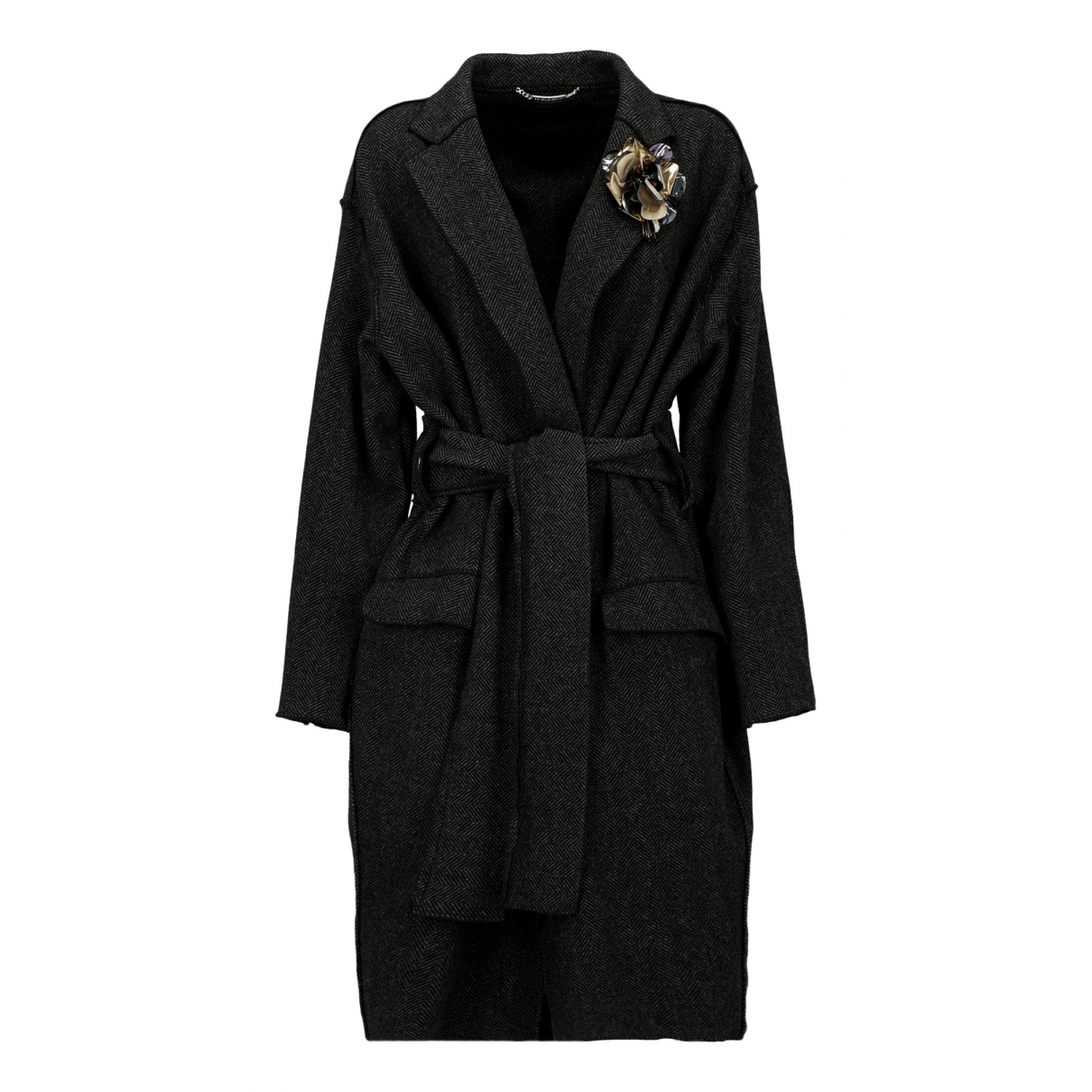 Dolce & Gabbana \N Anthracite Wool coat for Women 46 IT